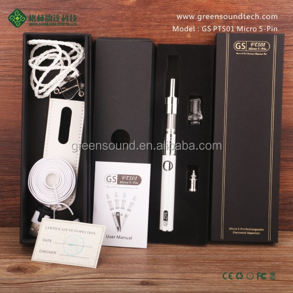 Accept paypal Green Sound micro 5pin passthrough GS PTS01 vapor pen Micro 5-Pin PTS01 battery ego vaporizer pen