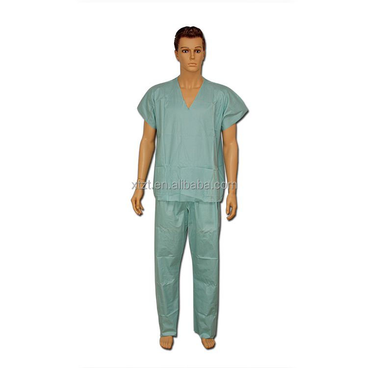 pink blue hospital disposable medical pyjamas