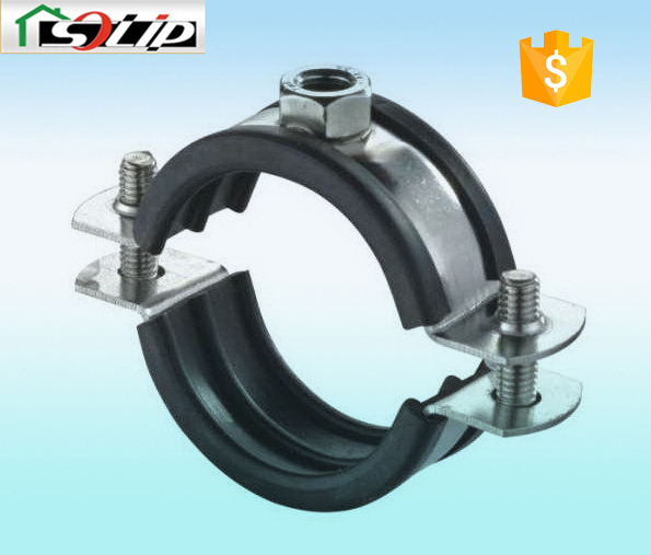 Stell galvanized rubber hdpe pipe fitting saddle clamp