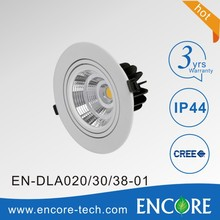 High Power Indoor 6/8 inch IP44 Recessed COB 20W LED Downlight
