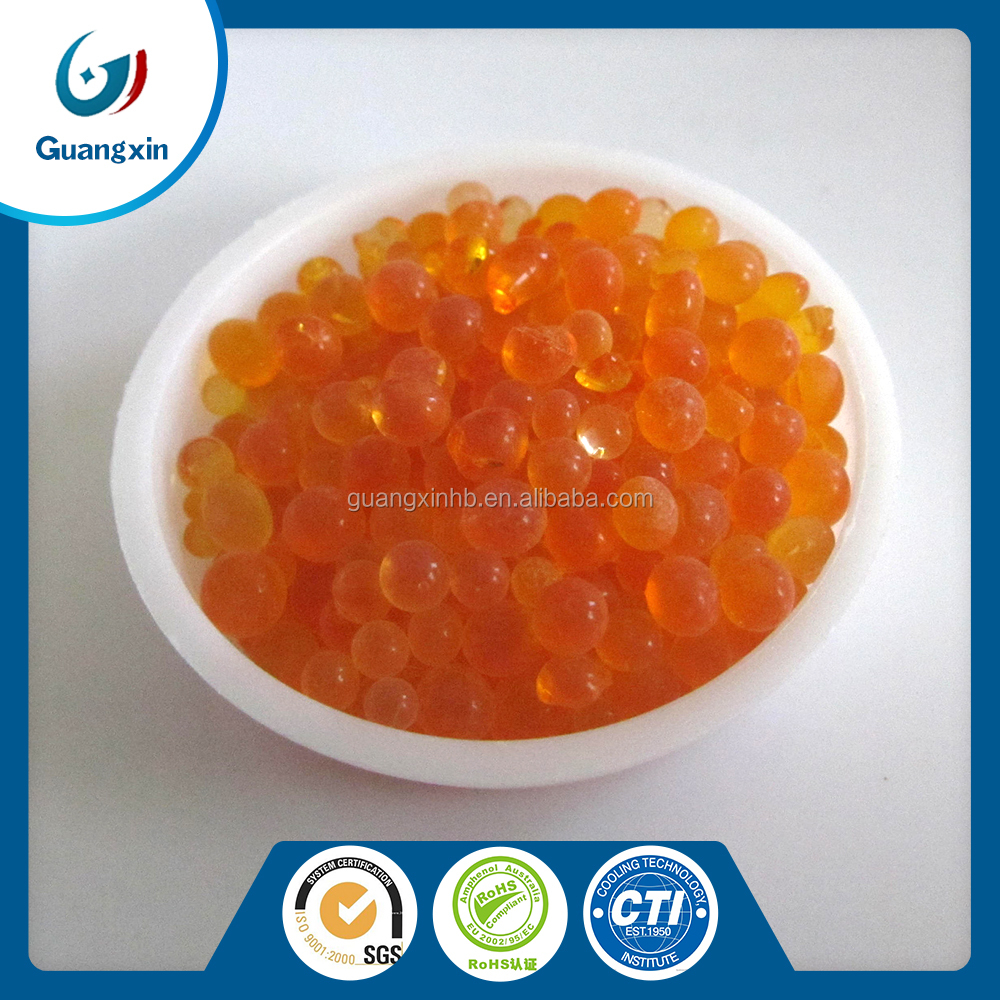china supplier fresh orange silica gel for indicator price