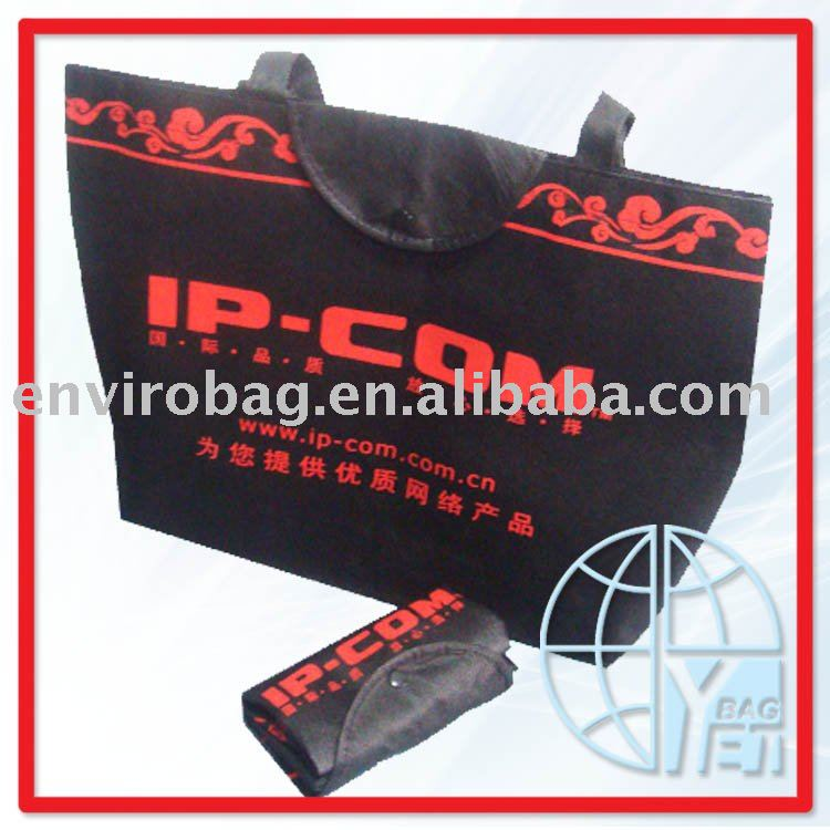 non woven folding shopping bag with wheels