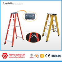 6063-T5 dual side aluminum ladder,A type step ladder,manhole ladder step
