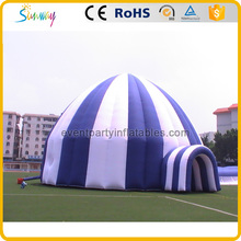Cheap large white and blue inflatable party event tent for sale