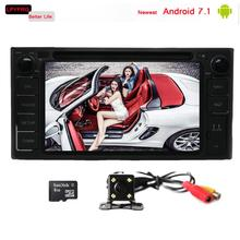 2 din 7 inch Android 7.1 car dvd multimedia for toyota rav4 hilux avanza with gps navi system 2GB RAM built-in 3/4G wifi obd2