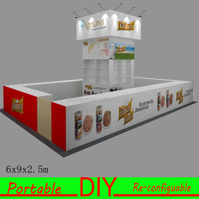 Portable Modular Tradeshow Booth Design 10x10 up to10x20,10x30,20x20,20x30ft