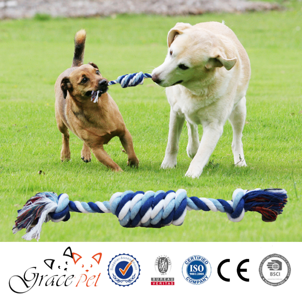 Private Label Braided Bone Rope Chew Knot Dog Toys