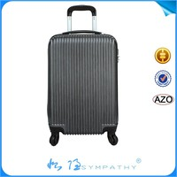abs carry on luggage set with retractable wheels