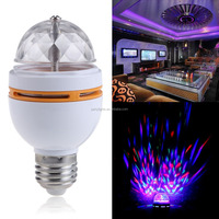 3W E27 AC85~240V mini RGB led full color rotating lamp