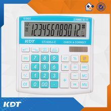 12 digit 112 steps check and correct function colorful electronic calculator