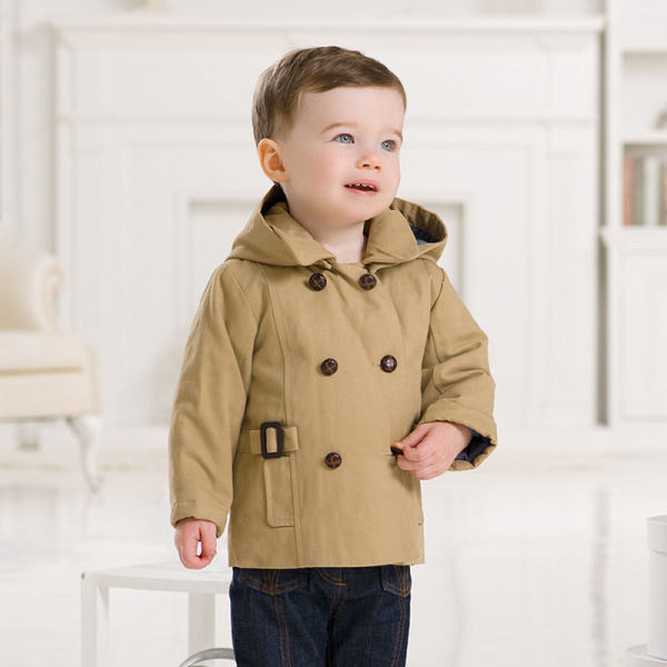DB983 dave bella 2014 winter infant coat baby wadded jacket padded jacket outwear winter coat jacket boy winter coat