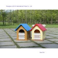 Top quality fashion design easy washable plastic building house cheap dog pet house cheap