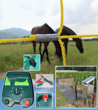 solar powered permanent electric fence unigizer charger 5km