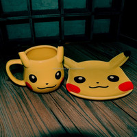 Pikachu Pokemon Creative Design Ceramic plate