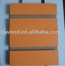 slatwall groove mdf panels with aluminum bar , mdf v groove panel