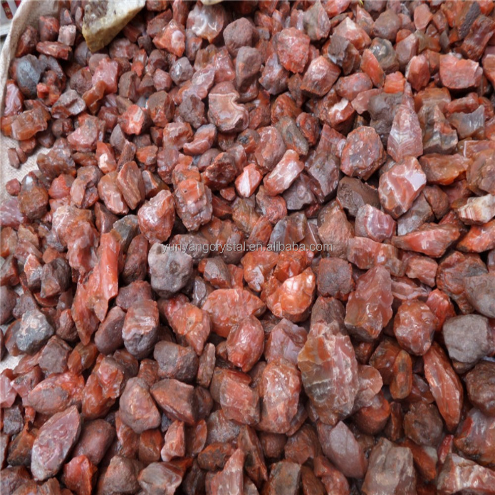 Natural FengShui antique imitation crafts raw red agate crystal stone for factory promoted
