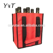 600D 4-Pack Wine Bottle Tote Bag