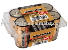 Super Alkaline Battery D LR20 6pcs/ plastic box