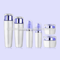 Wholesale hot stamping 30g 50g cream glass bottle sets 40ML 100ML 120ML custom luxury cosmetics jar