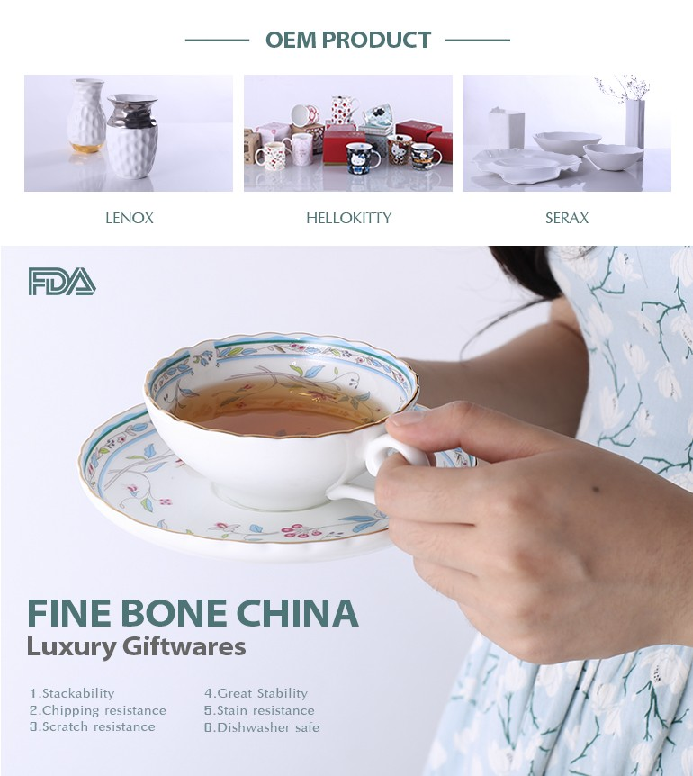 Chaozhou factory hot sale reusable ceramic coffee cup small with tray