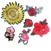 China hot sale 3D Flower Embroidery handwork design patch Applique Sew On for Craft Clothing