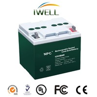 NPC Small UPS Battery SMF Rechargeable Lead Acid Battery 12v 38ah