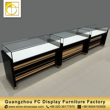 high quality tempered glass watches counter watch display cabinet shop interior design for sale