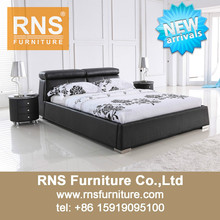 2015 RNS New Design Leather Bedroom Furniture A907