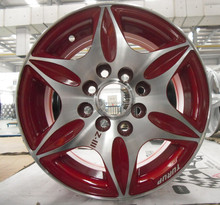 beautiful red car wheel