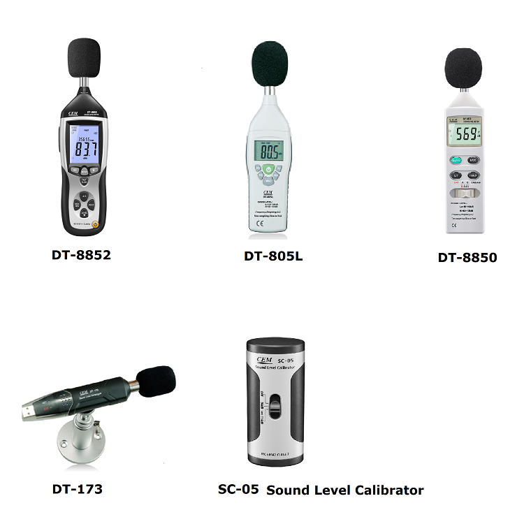 CEM DT-815  Range 30-130dB sound noise level  with Analog AC / DC outputs level meter sound