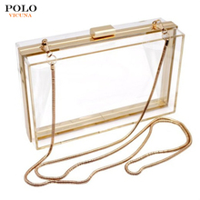 Wholesale Custom Fashion Tactical Crossbody Shoulder Bags Acrylic Clear Messenger Bag for Women