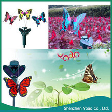 Beautiful Solar Powered Flying Wobble Fluttering Butterfly for Garden Decoration