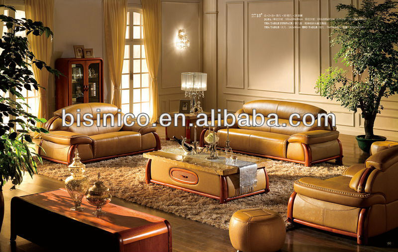 Bisini Thick Top Quality Leather sofa