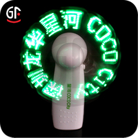 2016 Wholesale China Importers Special Custom Return Gifts for Birthday Party Flashing Led Message Fan
