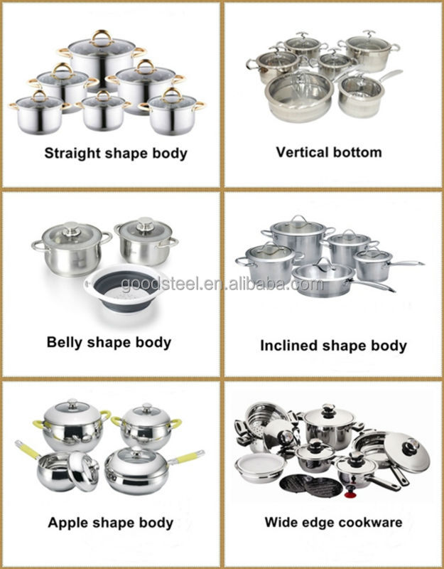 Hear resistant silicon handle stainless steel stock pot large cooking pot MSF-8184