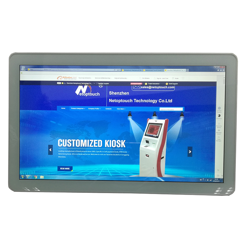 Selling 18.5 inch tablet/desktop/wall mounted multimedia touch screen all in one kiosk Android with <strong>PC</strong>