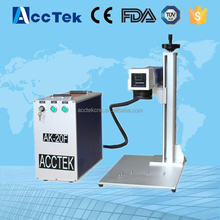 Portable metal cnc fiber laser mark machine for brass aluminum marking price