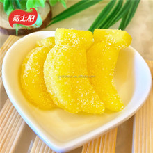 Banana shaped sugar coated fruit juice gummy soft jelly candy