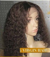 2015 New Style Virgin Remy Hair Brazilian Kinky Curly Full Lace Wig