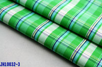 gold weave cotton fabric for shirt garment 100% cotton yarn dyed 32s checked green blue white poplin