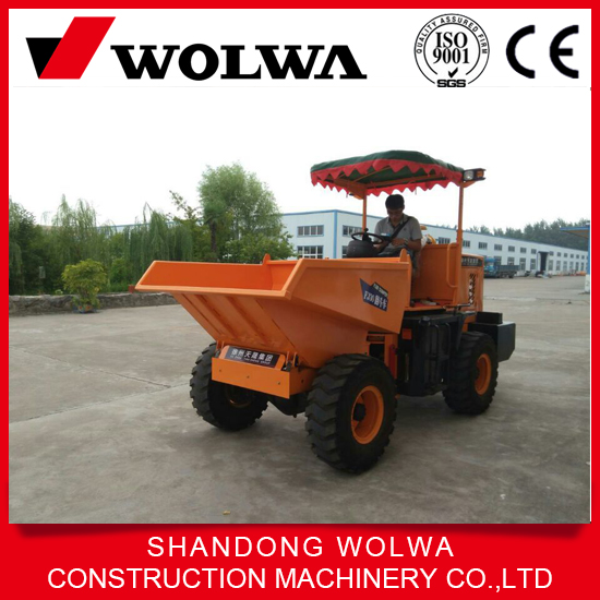 cheap price wheel type 3 ton dump truck with hydraulic system