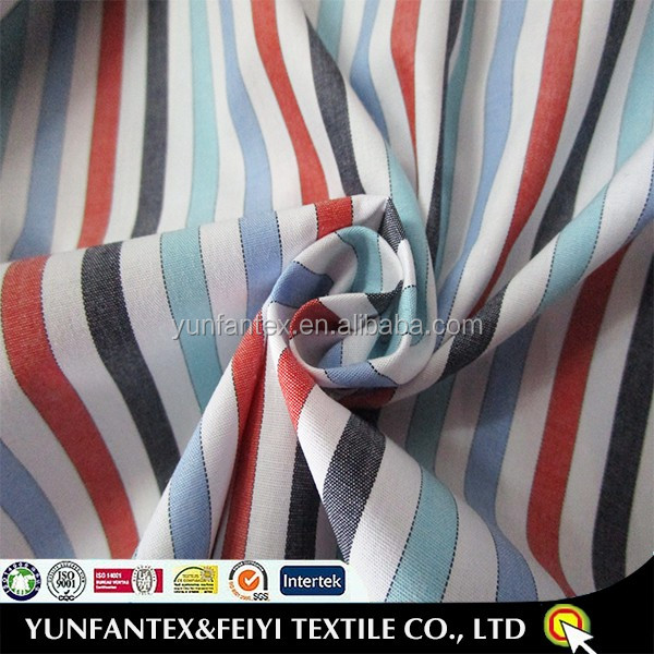 2016 wholesale poplin fabric home textile use for shirting fabric in stripe pattern