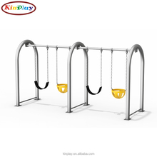 KINPLAY Brand Durable Metal Frame Outdoor Four Seat Swing For Sale Children Playground Swing