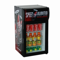 42L small Beer&Soft Drink display cooler for sales promotion with corporate advertising