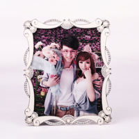 solid photo picture frame wallet size picture frame metal picture photo frame