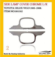 toyota hilux vigo spare parts side lamp cover for toyota hiace hilux vigo #001502 ABS chrome head light cover