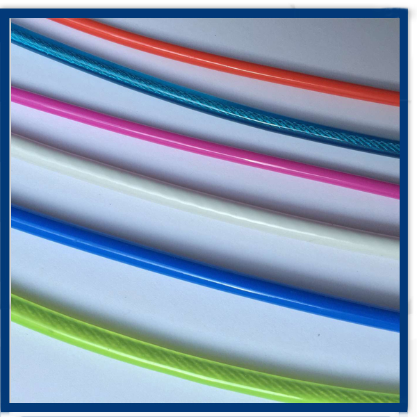 colorful PA coated stainless steel wire rope/cable
