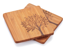 hot bamboo wooden tea coaster with holder