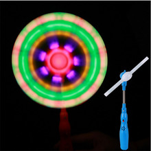 Windmills Flashing Light Up LED And Music Rainbow Spinning Windmill Glows Classic Toys For Children Kids Present Gift Party