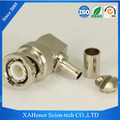 RF coaxial cable connector bnc female 90 degree with receptacle for RG188